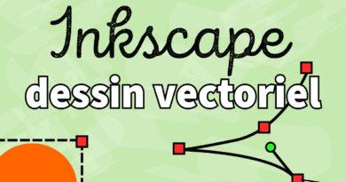 Inkscape – Dessiner une tête et vectoriser un texte
